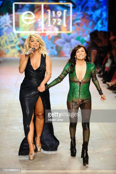 Bebe Rexha and Julia Haart on the runway for e1972 during New York Fashion Week on February 08 2020 in New York City