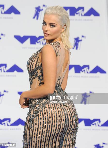 Bebe Rexha arrives at the 2017 MTV Video Music Awards at The Forum on August 27 2017 in Inglewood California