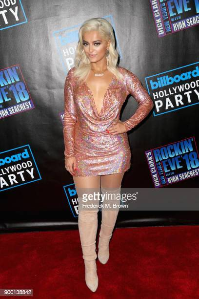 Bebe Rexha attends Dick Clark's New Year's Rockin' Eve with Ryan Seacrest 2018 on December 31 2017 in Los Angeles California