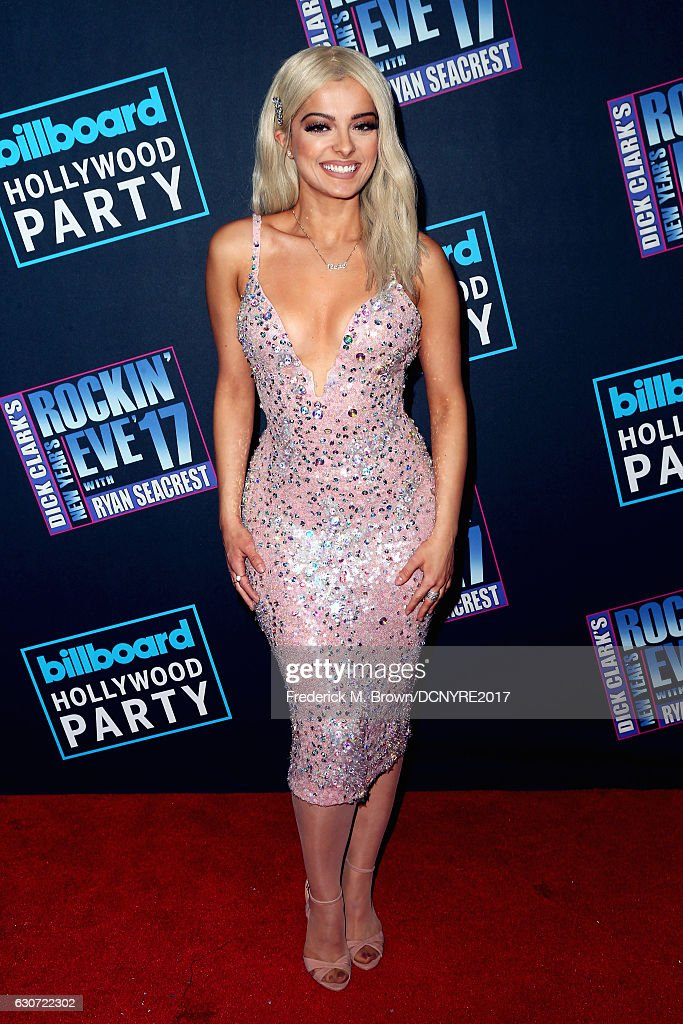 Bebe Rexha attends Dick Clark's New Year's Rockin' Eve with Ryan Seacrest on December 31, 2016 in Los Angeles, California.