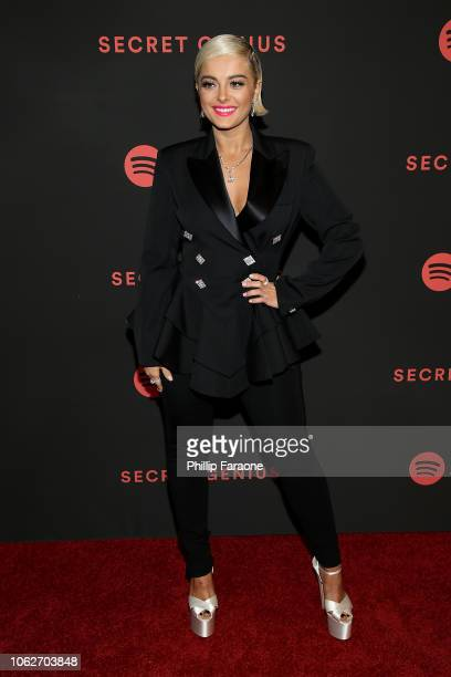 Bebe Rexha attends Spotify's 2nd annual Secret Genius Awards at The Theatre at Ace Hotel on November 16 2018 in Los Angeles California