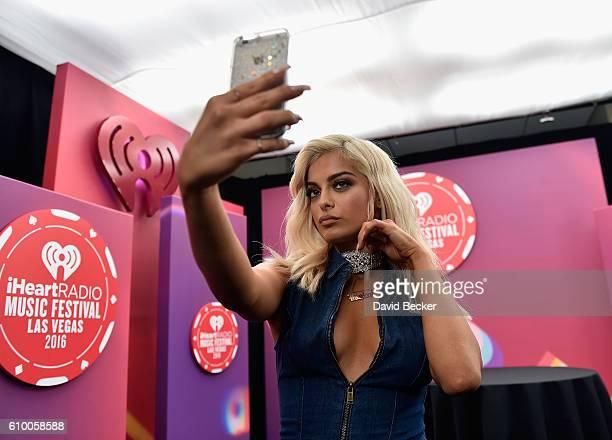 Bebe Rexha attends the 2016 iHeartRadio Music Festival at TMobile Arena on September 23 2016 in Las Vegas Nevada