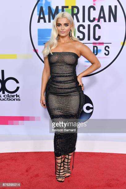 Bebe Rexha attends the 2017 American Music Awards at Microsoft Theater on November 19 2017 in Los Angeles California