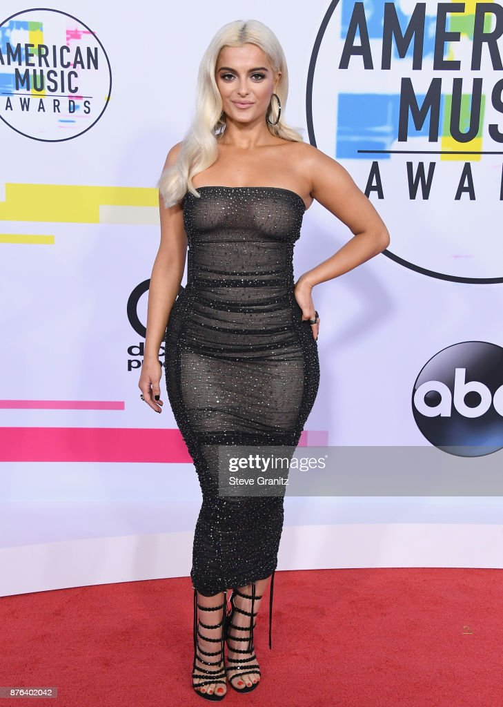 Bebe Rexha attends the 2017 American Music Awards at Microsoft Theater on November 19, 2017 in Los Angeles, California.