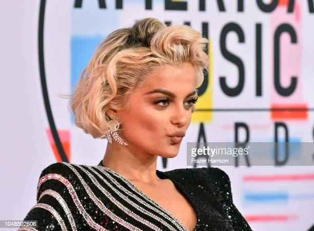 Bebe Rexha attends the 2018 American Music Awards at Microsoft Theater on October 9 2018 in Los Angeles California