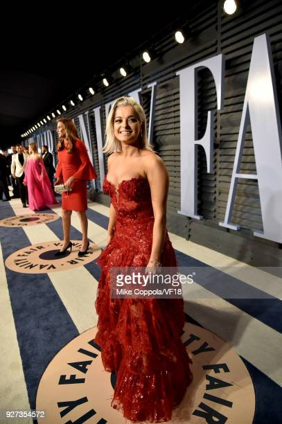 Bebe Rexha attends the 2018 Vanity Fair Oscar Party hosted by Radhika Jones at Wallis Annenberg Center for the Performing Arts on March 4 2018 in...