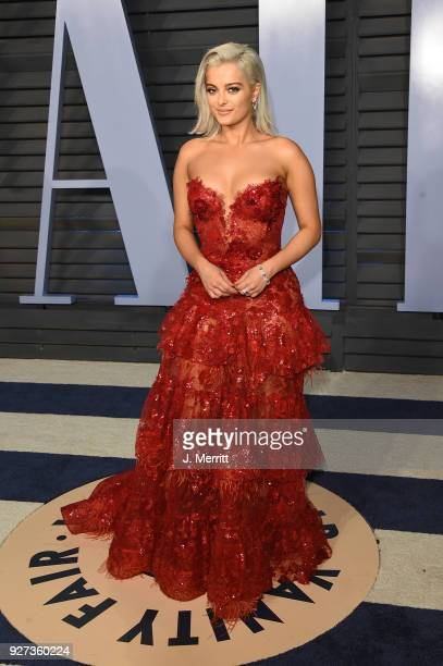Bebe Rexha attends the 2018 Vanity Fair Oscar Party hosted by Radhika Jones at the Wallis Annenberg Center for the Performing Arts on March 4 2018 in...