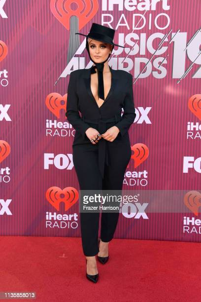 Bebe Rexha attends the 2019 iHeartRadio Music Awards which broadcasted live on FOX at Microsoft Theater on March 14, 2019 in Los Angeles, California.