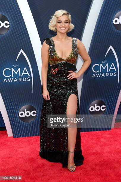 Bebe Rexha attends the 52nd annual CMA Awards at the Bridgestone Arena on November 14 2018 in Nashville Tennessee