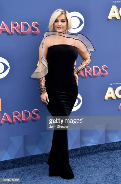 Bebe Rexha attends the 53rd Academy of Country Music Awards at MGM Grand Garden Arena on April 15 2018 in Las Vegas Nevada