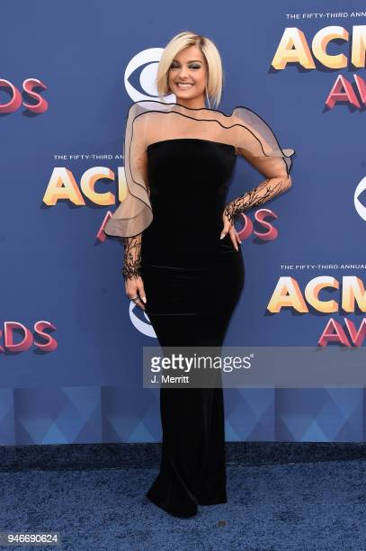 Bebe Rexha attends the 53rd Academy of Country Music Awards at the MGM Grand Garden Arena on April 15 2018 in Las Vegas Nevada