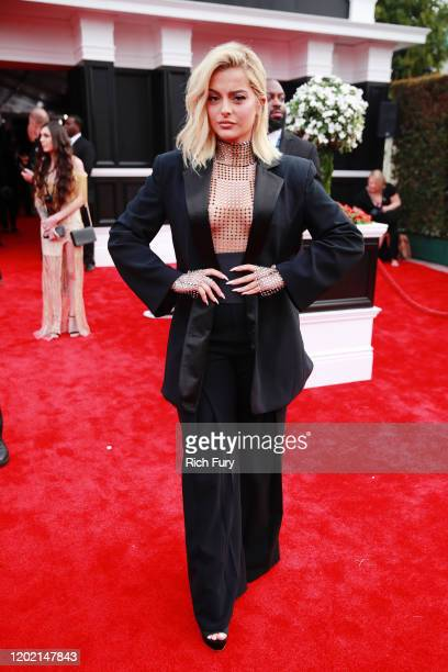 Bebe Rexha attends the 62nd Annual GRAMMY Awards at STAPLES Center on January 26, 2020 in Los Angeles, California.