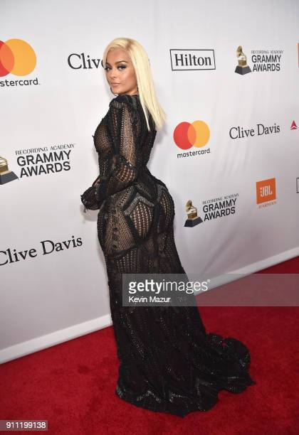 Bebe Rexha attends the Clive Davis and Recording Academy PreGRAMMY Gala and GRAMMY Salute to Industry Icons Honoring JayZ on January 27 2018 in New...