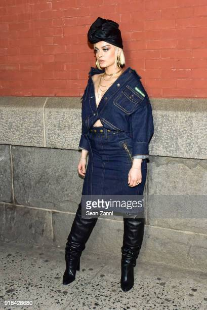 Bebe Rexha attends the Marc Jacobs Fall 2018 fashion show during New York Fashion Week at Park Avenue Armory on February 14 2018 in New York City