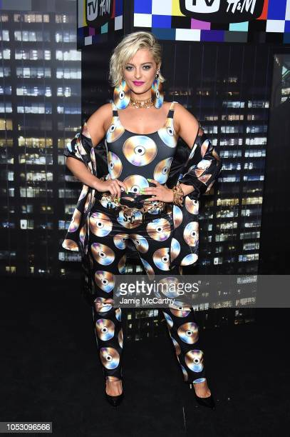 Bebe Rexha attends the Moschino x HM runway at Pier 36 on October 24 2018 in New York City