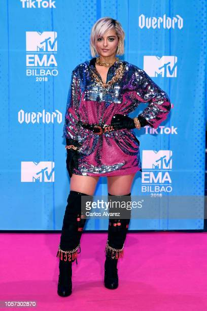 Bebe Rexha attends the MTV EMAs 2018 at Bilbao Exhibition Centre on November 4 2018 in Bilbao Spain
