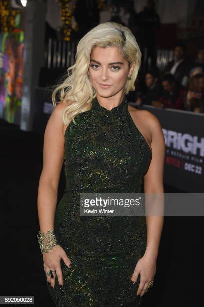 Bebe Rexha attends the Premiere Of Netflix's 'Bright' at Regency Village Theatre on December 13 2017 in Westwood California