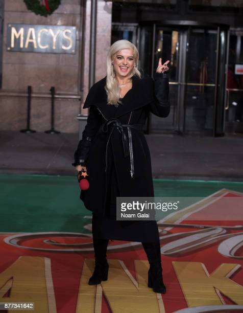 Bebe Rexha attends the rehearsals for the 91st Annual Macy's Thanksgiving Day Parade on November 21 2017 in New York City