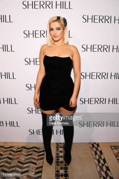 Bebe Rexha attends the Sherri Hill NYFW Spring 2020 runway show at Cipriani 42nd Street on September 06, 2019 in New York City.