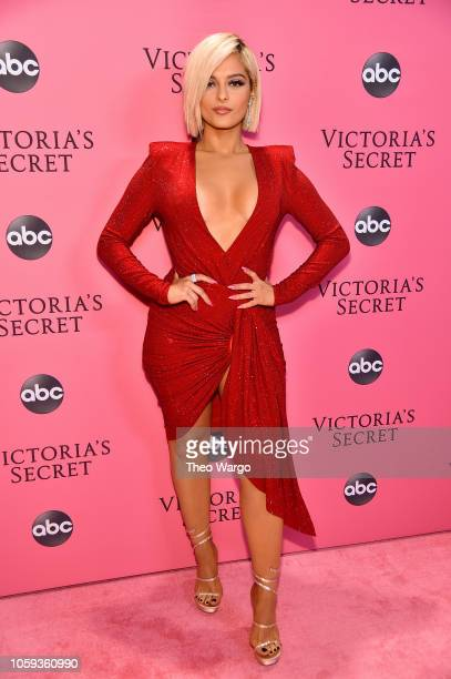 Bebe Rexha attends the Victoria's Secret Fashion Show at Pier 94 on November 8 2018 in New York City