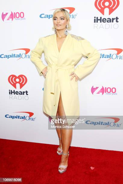 Bebe Rexha attends Z100's Jingle Ball 2018 at Madison Square Garden on December 7 2018 in New York City