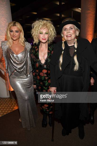 """Bebe Rexha, Cyndi Lauper, and Joni Mitchell attend the Pre-GRAMMY Gala and GRAMMY Salute to Industry Icons Honoring Sean """"Diddy"""" Combs on January 25,..."""