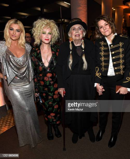 """Bebe Rexha, Cyndi Lauper, Joni Mitchell, and Brandi Carlile attend the Pre-GRAMMY Gala and GRAMMY Salute to Industry Icons Honoring Sean """"Diddy""""..."""