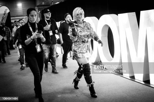 Bebe Rexha during the MTV EMAs 2018 at Bilbao Exhibition Centre on November 04 2018 in Bilbao Spain