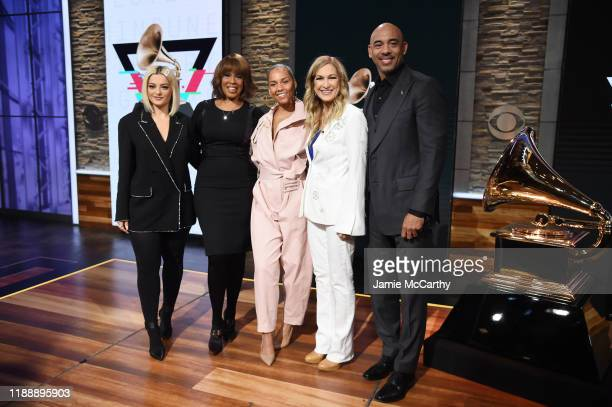 Bebe Rexha Gayle King Alicia Keys Recording Academy president and CEO Deborah Dugan and Chair of the Board of Trustees of the Recording Academy...