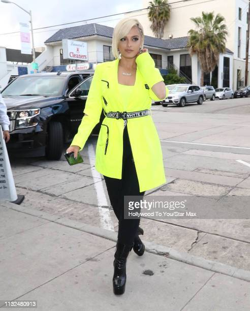 Bebe Rexha is seen on March 23 2019 in Los Angeles