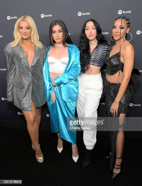 Bebe Rexha Lauren Jauregui Noah Cyrus and Tinashe attend Spotify Hosts Best New Artist Party at The Lot Studios on January 23 2020 in Los Angeles...