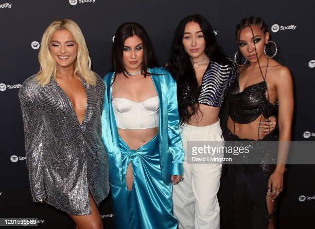 Bebe Rexha Lauren Jauregui Noah Cyrus and Tinashe attend the Spotify Best New Artist 2020 Party at The Lot Studios on January 23 2020 in Los Angeles...