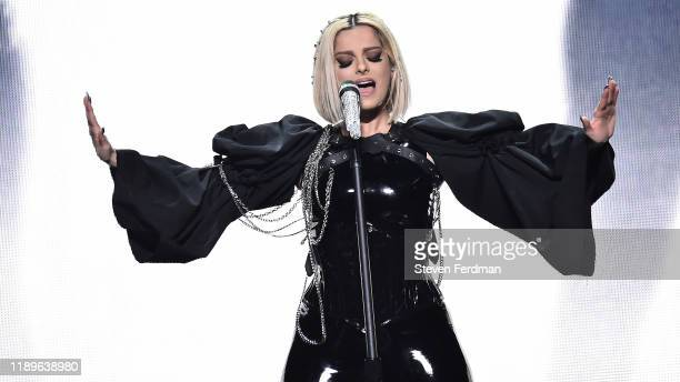 Bebe Rexha performs at Barclays Center on November 23, 2019 in New York City.