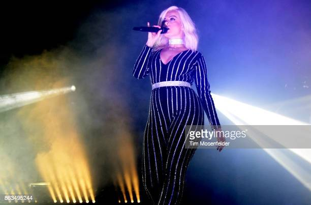 Bebe Rexha performs during the 'Bebe Bassy Tour 2017' at Ace of Spades on October 19 2017 in Sacramento California