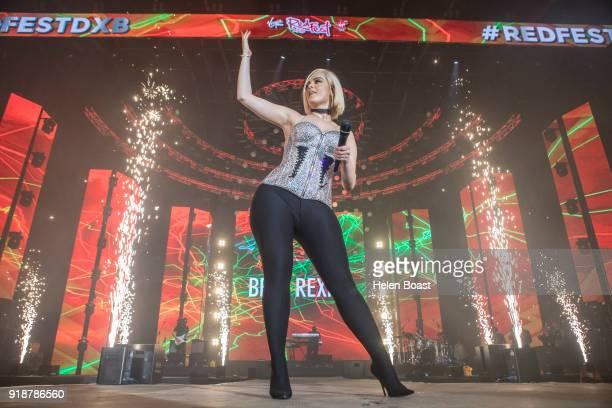 Bebe Rexha performs for day 2 of Virgin Radio RedfestDXB at Dubai Media City Amphitheatre on February 8 2018 in Dubai United Arab Emirates
