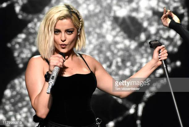 """Bebe Rexha performs in support of her """"Expectations"""" release at Chase Center on October 08, 2019 in San Francisco, California."""