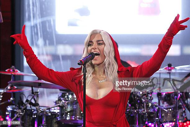 AMERICA Bebe Rexha performs live on Good Morning America 1/13/17 airing on the ABC Television Network BEBE