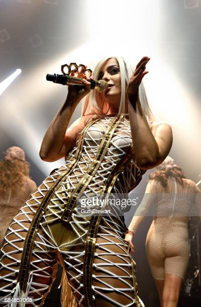 Bebe Rexha performs on stage at KOKO on May 18 2017 in London England