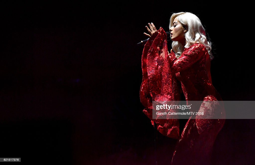 Bebe Rexha performs on stage at the MTV Europe Music Awards 2016 on November 6, 2016 in Rotterdam, Netherlands.