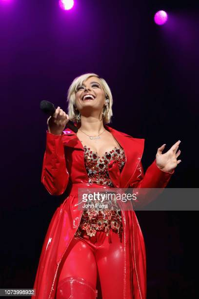 Bebe Rexha performs on stage during 933 FLZ's Tampa Jingle Ball on December 15 2018 in Tampa Florida