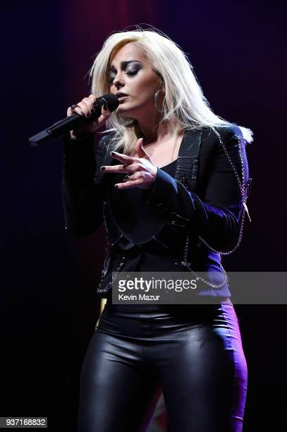 Bebe Rexha performs onstage at Stay Amped 'A Concert to End Gun Violence' at The Anthem on March 23 2018 in Washington DC