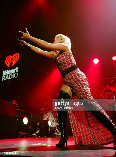 Bebe Rexha performs onstage during 1013 KDWB's Jingle Ball 2018 at Xcel Energy Center on December 3 2018 in St Paul Minnesota
