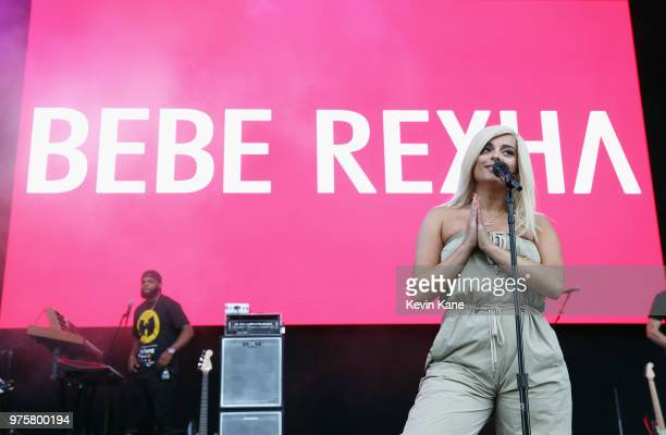 Bebe Rexha performs onstage during 2018 BLI Summer Jam at Northwell Health at Jones Beach Theater on June 15 2018 in Wantagh New York