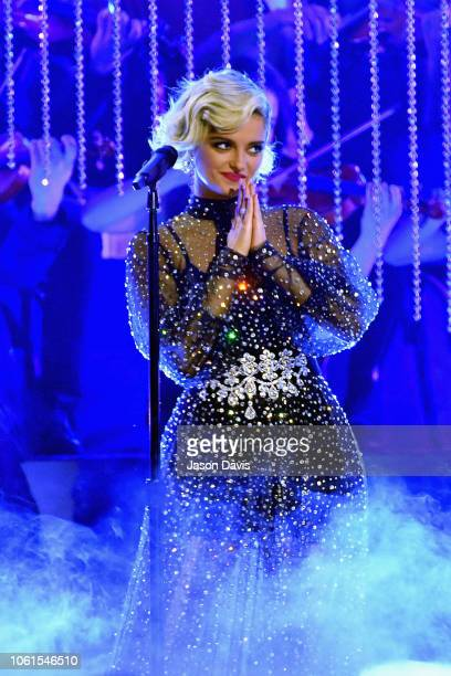 Bebe Rexha performs onstage during the 52nd annual CMA Awards at the Bridgestone Arena on November 14 2018 in Nashville Tennessee