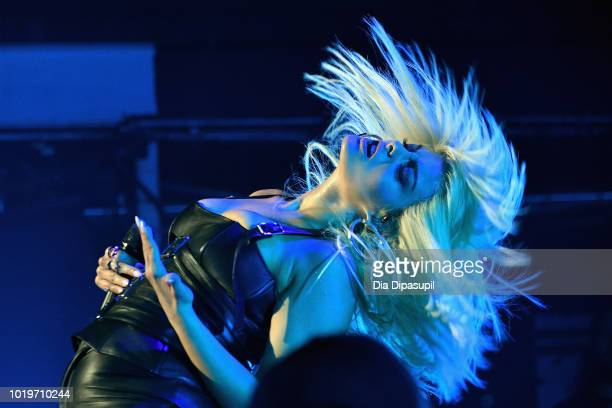 Bebe Rexha performs onstage during the MTV VMA Kickoff Concert presented by DirecTV Now at Terminal 5 on August 19, 2018 in New York City.