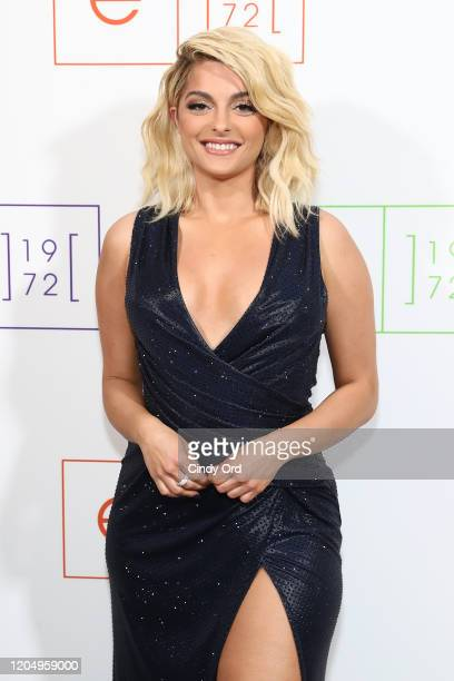Bebe Rexha poses at e1972 during New York Fashion Week on February 08 2020 in New York City