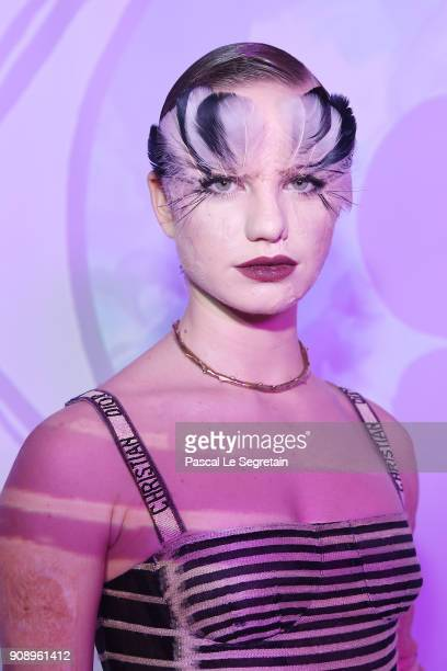 Bebe Vio attends Le Bal Surrealiste Dior during Haute Couture Spring Summer 2018 show as part of Paris Fashion Week on January 22 2018 in Paris France