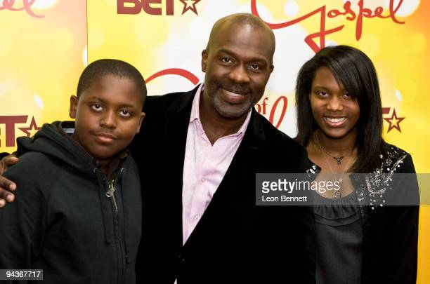 Bebe Winans and family attends BET's 10th Anniversary Celebration Of Gospel at The Orpheum Theatre on December 12 2009 in Los Angeles California