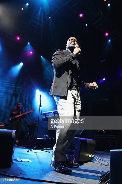 BeBe Winans performs as part of Celebrate Brooklyn at the Prospect Park Bandshell on July 25 2013 in the Brooklyn borough of New York City