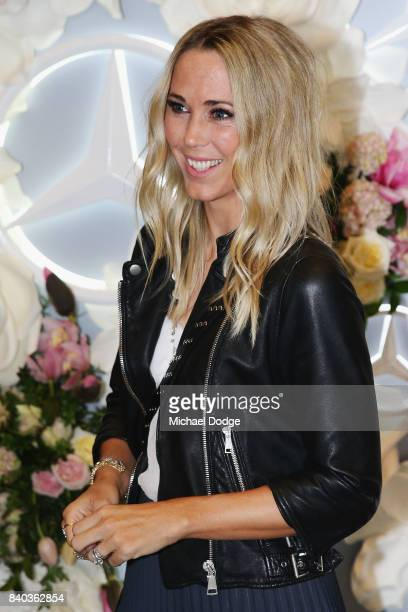 Bec Cartwright arrives ahead of the Dior lunch at NGV International on August 29 2017 in Melbourne Australia